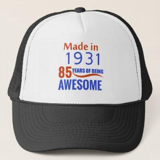 85 birthday design trucker hat
