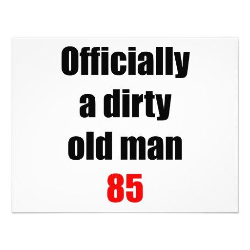 85  Dirty Old Man Custom Announcements