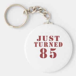 85 Just Turned Birthday Basic Round Button Keychain