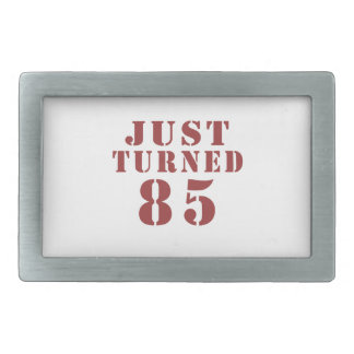 85 Just Turned Birthday Rectangular Belt Buckles
