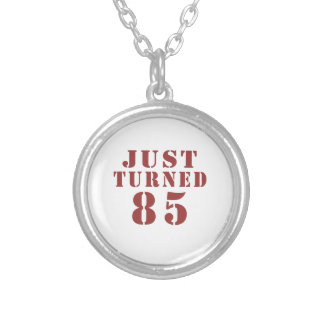 85 Just Turned Birthday Silver Plated Necklace