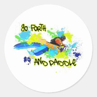 85.Urban kayak4 Classic Round Sticker