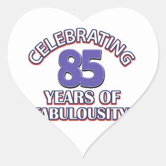 85 years design heart sticker
