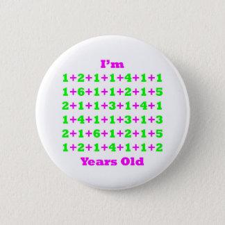 85 Years Old Magenta Gr 2 Inch Round Button
