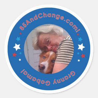 85AndChange_GrannyGobama_Sticker Classic Round Sticker