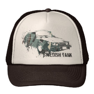 85spg_destroy_camo, Swedish tank Trucker Hat