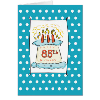 85th Birthday Cake Card