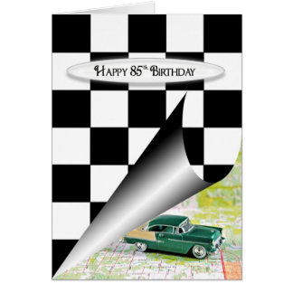 85th Birthday Car Card