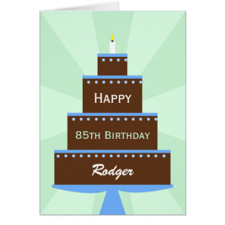 85th Birthday Card Custom Name
