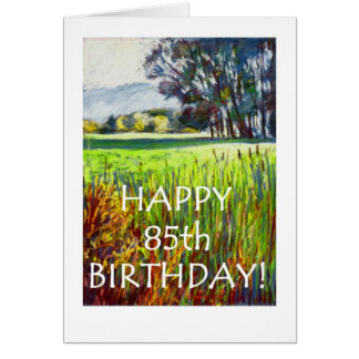 85th Birthday Card - Evening in the Meadows