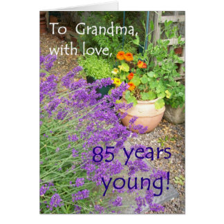 85th Birthday Card for Grandmother - Flower Garden