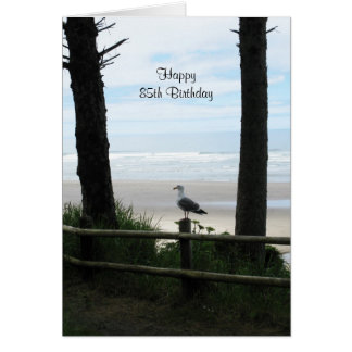85th Birthday Cards Ocean View