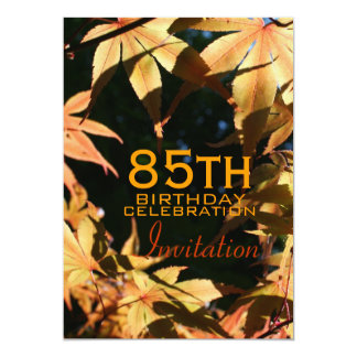 85th Birthday Celebration Autumn Custom Invitation