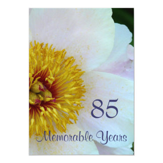 85th Birthday Celebration/Elegant White Peony Card