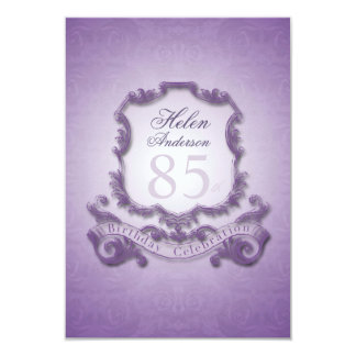 85th Birthday Celebration Vintage Frame Invitation