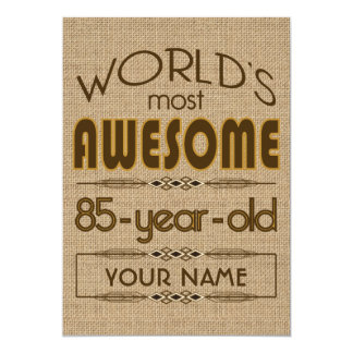 "85th Birthday Celebration World Best Fabulous 5"" X 7"" Invitation Card"