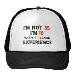 85th birthday designs hat