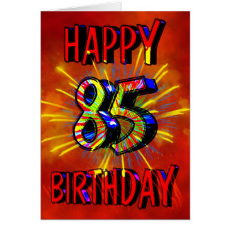 85th Birthday Fireworks Card