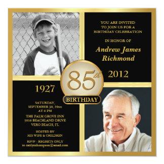 85th Birthday Invitations Then & Now Photos