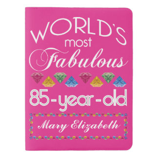 85th Birthday Most Fabulous Colorful Gems Pink Extra Large Moleskine Notebook