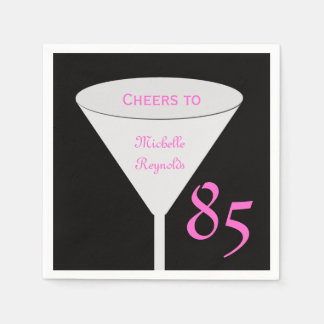 "85th Birthday Party ""Cheers To"" for Women Paper Paper Napkin"