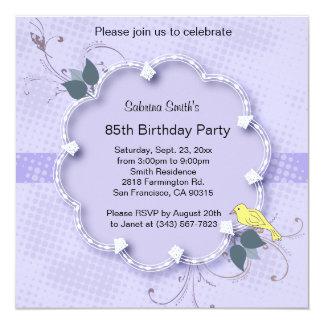 "85th Birthday Party | DIY Text 5.25"" Square Invitation Card"