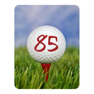 "85th Birthday Party Golf theme 4.25"" X 5.5"" Invitation Card"