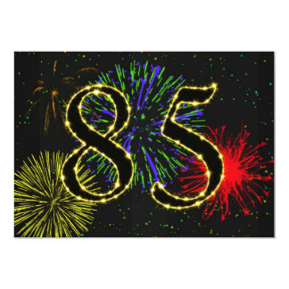 85th birthday party invitate personalized invitation