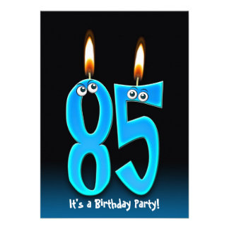 85th Birthday Party Personalized Invitations