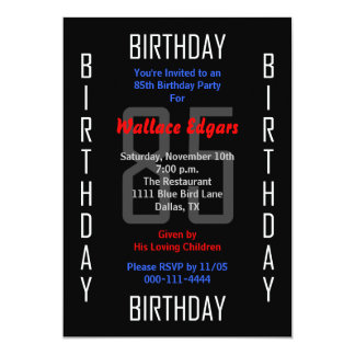 85th Birthday Party Invitation 85