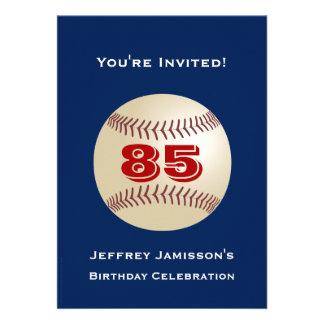 85th Birthday Party Invitation Baseball Invitations