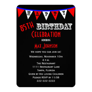 85th Birthday Party Invitation Bunting