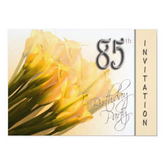 85th Birthday Party Invitation - Calla Lilies