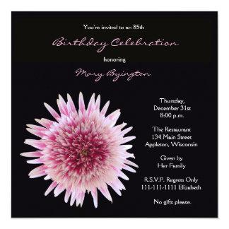 85th Birthday Party Invitation Gorgeous Gerbera