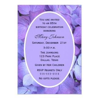 85th Birthday Party Invitation Hydrangea