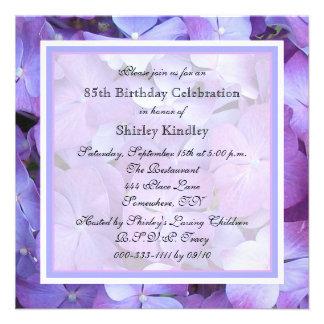85th Birthday Party Invitation - Hydrangeas