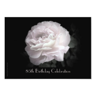 85th Birthday Party Invitation Pale Pink Rose