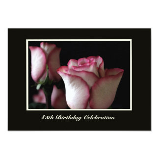 85th Birthday Party Invitation Roses