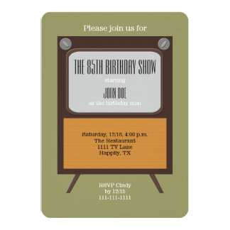 85th Birthday Party Invitation Vintage TV