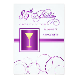 85th Birthday Party Invitations - with Monogram