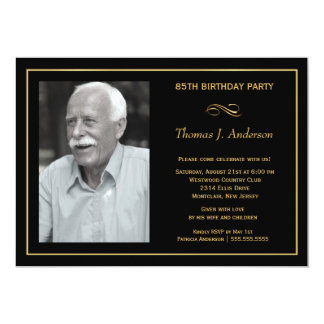 85th Birthday Party Invitations - with your photo