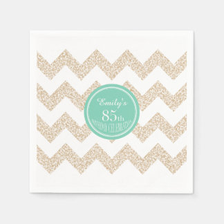 85th Birthday Party Paper Napkins - Choose Color