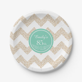 85th Birthday Party Paper Plates - Choose Color 7 Inch Paper Plate