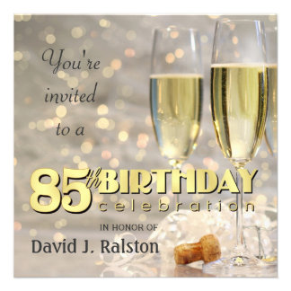 85th Birthday Party - Personalized Invitations