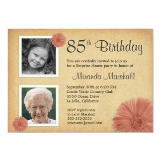 85th Birthday Invitations Announcements Zazzle Canada