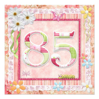 85th birthday party scrapbooking style personalized announcements
