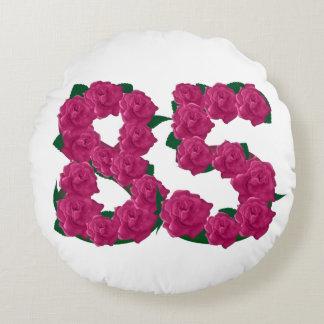 """85th birthday Round Throw Pillow (16"""")"""