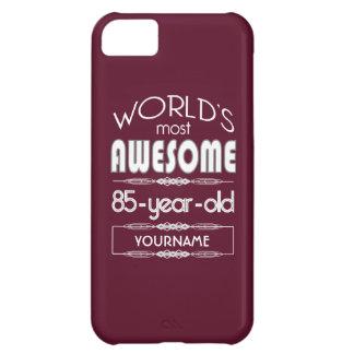 85th Birthday Worlds Best Fabulous Dark Red iPhone 5C Cover