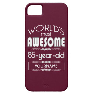85th Birthday Worlds Best Fabulous Dark Red iPhone 5/5S Cases