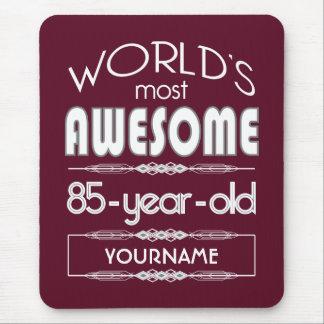 85th Birthday Worlds Best Fabulous Dark Red Mousepad